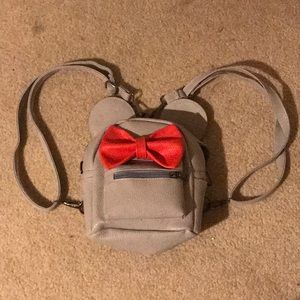Handbags - Grey and Red Minnie Mouse Backpack
